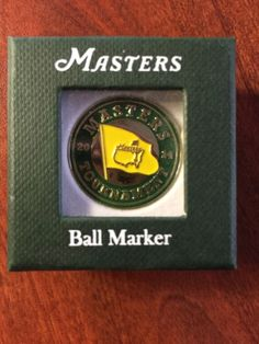 2014 Masters Golf Tournament Commemorative Ball Marker Augusta National #Masters