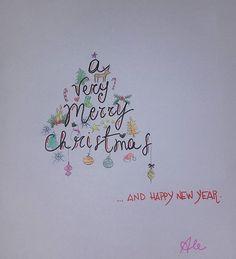 A very merry christmas...#andhappynewyear #natale #biglietto #bigliettoauguri #buonnatale #disegnare 🎄⛄🎅🌟
