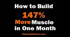 The most detailed guide on how to build muscle on the web. Learn how to gain more muscle faster. https://www.musclesaurus.com/bodybuilding/
