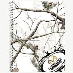 Realtree Outfitters™  AP Camo Snow camo Spiral Notebook   #back2school #new