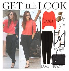 """Get The Look - Sophia Smith / Nice Airport (July 31st, 2014)"" by randomoutfitsandstyle ❤ liked on Polyvore featuring Zara, Topshop and Yves Saint Laurent"