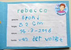 Geboortekaartjes maken, thema baby, kleuteridee.nl, Kindergarten baby theme Preschool Lessons, Babys, Projects, Baby Theme, Blue Prints, Preschool Schedule, Babies, Newborns, Baby Baby