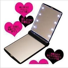 8 LED folding compact mirror great for diy bling phone deco Compact Mirror, Mirrors, Craft Supplies, Mad, Bling, Deco, Phone, Makeup, Crafts