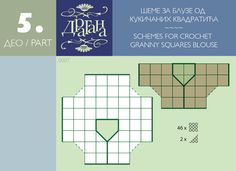 Everything to Create ...: any pair crochet squares create molds 1 and 2 ..diagram for joining squares for tops