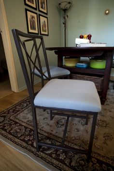 ikea granas chair upholstered. just got this set -- DEFINITELY upholstering when i put it together