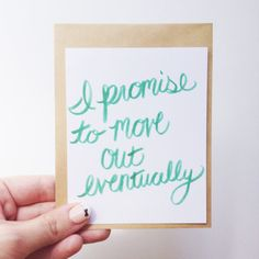 With a promise.