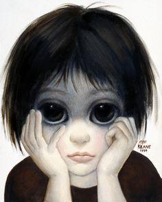 Art by Margaret Keane Big Eyes Margaret Keane, Keane Big Eyes, Margret Keane, Film Biographique, Keane Artist, Big Eyes 2014, Big Eyes Paintings, Film Tim Burton, Big Eyes Artist