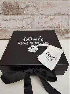 The box will be personalised with the name of your choice and comes with a tiny bag for storing puppy teeth if you manage to find any! Dog Gifts, Teeth, Cards Against Humanity, Puppies, Memories, Bag, Memoirs, Cubs, Souvenirs
