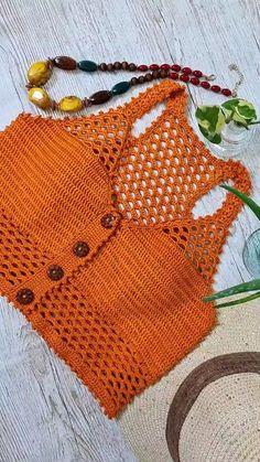 Crochet Crop Top, Crochet Blouse, Crochet Lace, Crochet Bikini, Crochet Bolero Pattern, Newborn Crochet Patterns, Mode Du Bikini, Crochet Fashion, Beautiful Crochet