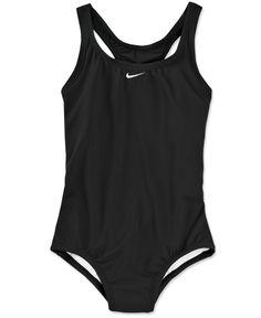 new style 928e4 f9fd9 Nike Girls  One-Piece Powerback Tank Swimsuit Kids - Swimwear - Macy s