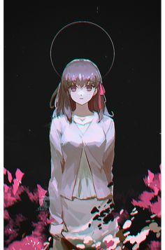 I beg you : SakuraMatou Anime K, Dark Anime, Manga Illustration, Character Illustration, Kawaii Anime Girl, Anime Art Girl, Type Moon Anime, Character Art, Character Design