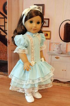 Heirloom Dress for 18 Inch Dolls by BabiesArtUs on Etsy