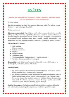 KVĚTEN Indoor Activities For Kids, Pvp, Preschool, Journal, How To Plan, Education, Biology, Indoor Kid Activities, Kid Garden