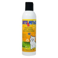 Cats Medicated Demodex Mite Hair Conditioner for Treatment Demodectic Mange in Cats *** Be sure to check out this awesome product. (This is an affiliate link) #Catgrooming