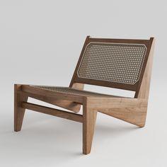 Kangaroo Lounge Chair Pierre Jeanneret, Wicker Chairs, Outdoor Chairs, Outdoor Furniture, Chandigarh, Lounge, Wood Sofa, Vintage Chairs, Diy Chair