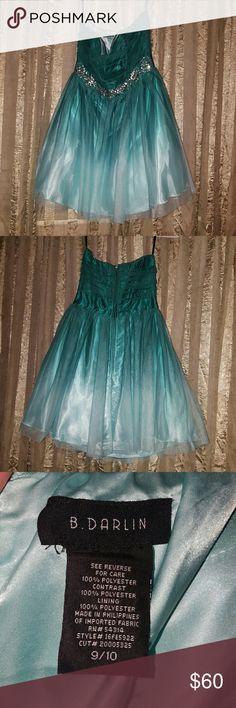 Short prom dress Worn once. Short ombre formal dress. Size 9/10. Dresses Prom
