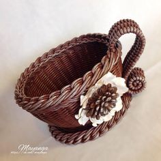 Wicker Baskets, Crafts, Home Decor, Image, Creativity, Manualidades, Decoration Home, Room Decor, Handmade Crafts