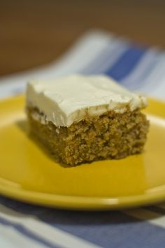 Carrot Cake with (Vegan!) Cream Cheese Frosting