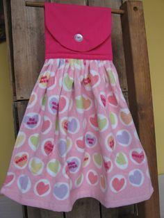 Valentine Candy Kitchen Towel Valentine Hanging by SnowNoseCrafts, $5.00
