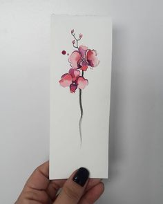 Find the tattoo artist and the perfect inspiration to make your tattoo. Spine Tattoos, Finger Tattoos, Body Art Tattoos, Orchid Flower Tattoos, Beautiful Flower Tattoos, Tattoo P, Color Tattoo, Dainty Tattoos, Small Tattoos