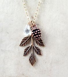 Hey, I found this really awesome Etsy listing at https://www.etsy.com/listing/159765778/pinecone-necklace-leaf-necklace-winter