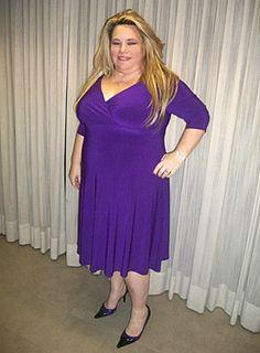 Francesca Plus Size Dress in Amethyst - Day Dresses by IGIGI