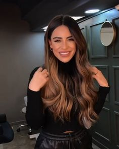 Ombre Hair, Brown Hair Balayage, Brown Blonde Hair, Hair Color Brown, Light Brown Hair Colors, Hair Color For Warm Skin Tones, Brown Hair Inspo, Balayage Hair Brunette Caramel, Brown Hair Inspiration