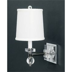 Chrome trimmed sconce with crystal accents and a sheer pleated shade crystal wall sconce lamp works 1 light armed candle wall sconces wall lighting mozeypictures Images