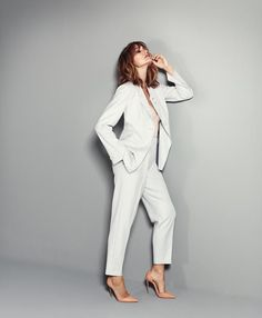 f76cf9824570 Yasmin Le Bon wearing a jacket and pants from the Giorgio Armani New Normal  collection Yasmin