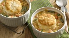 Five ingredients and just 35 minutes is all it takes for a pot pie dinner for two.