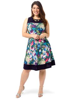 Wild Floral Fit & Flare Dress