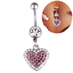 Rose Gold Heart Belly Bar Clothes I Want Pinterest Bars And