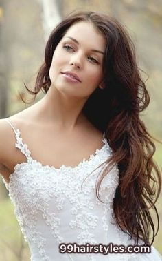 cute long brunette curly hairstyle  idea - 99 Hairstyles Ideas