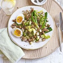Cannellini bean & egg salad with crispy crumbs