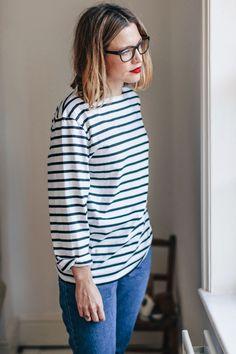 Style Memos: my style Breton Stripes Outfit, Boho Fashion, Fashion Outfits, Winter Mode, Scandinavian Style, Striped Tee, Alternative Fashion, Everyday Outfits, Minimalist Fashion
