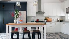 Room Tour: Modern Kitchen Makeover With Beautiful Tile - YouTube