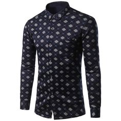 17.85$  Watch now - http://di0m3.justgood.pw/go.php?t=200840407 - Thicken Turndown Collar Oblique Tartan Print Shirt