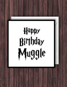 Harry Potter fan card Muggle httpswwwetsycomlisting