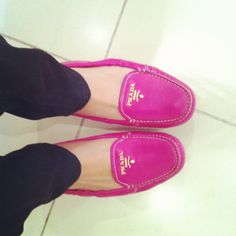 Prada loafers in pink