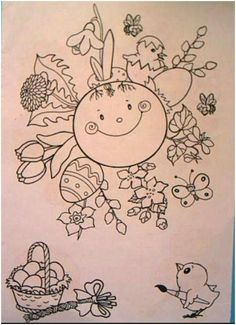 Pošta – Stepanka Nemeckova – Outlook Weather For Kids, Weather Art, Spring Activities, Activities For Kids, Coloring Pages For Kids, Coloring Books, Easter Illustration, Easter Egg Crafts, School Events