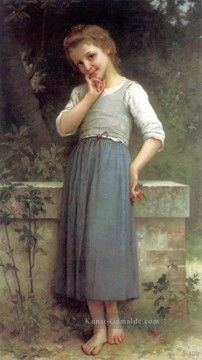 Charles Amable Lenoir Gemälde - The Cherrypicker 1900 realistische Porträts Mädchen Charles Amable Lenoir