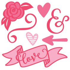 Valentine Set SVG scrapbook cut file cute clipart files for silhouette cricut pazzles free svgs free svg cuts cute cut files