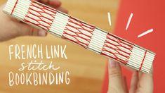 French Link Stitch Bookbinding Tutorial | Sea Lemon Bookbinding Tools, Bookbinding Tutorial, Diy Bookmaking, Book Binding Methods, Bookmark Craft, Stitch Book, Book Journal, Artist Journal, Handmade Books