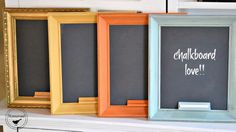 Easy Framed Chalkboards with a Tip you will want to know! www.homeroad.net