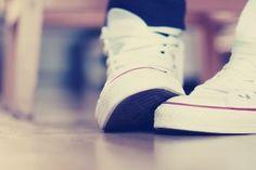 Converse Sneakers Macro Photo HD Wallpaper