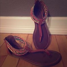 dfe48fd264 Size: 3 in kids but they fit me perfectly and I'm a women's size: So cute,  they speak for themselves. XOXO, Nicole American Eagle by Payless Shoes  Sandals