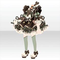 上半身/インナー キューティーバニーフリルドレスBグリーン Manga Clothes, Drawing Clothes, Person Drawing, Cocoppa Play, Female Character Design, Star Girl, Anime Outfits, Pretty Art, Girls Accessories