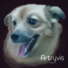 Popi #pet #dog #digitalpainting #watercolor #commission #artryvis