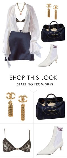 """""""Untitled #1859"""" by lucyshenton ❤ liked on Polyvore featuring Prada, Tom Ford, Fendi and Chanel"""