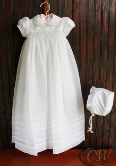 55b218cec Christening Gowns Girls, Baptism Gown, Baby Blessing, Heirloom Sewing,  Smocking, Children Clothes, Kids Outfits, Blessings, Childhood
